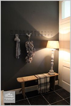 This anthracite-inspired hallway still manages to be cosy. Decor, Living Room Inspiration, Country Interior, Interior Inspiration, Home And Living, Home Decor, House Interior, Hall Decor, Home Deco