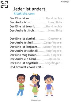 Poem about # diversity # friendship - Kinder lieder - Kindergarten Songs, Kindergarten Portfolio, Busy Boxes, Finger Plays, Have Fun, Classroom, Teaching, Education, Friendship