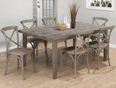 Table en bois grise rustique