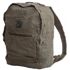 From a Hungarian army utilty sack into a unique backpack - Vinkee - Globe Hope
