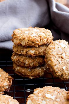 Peanut Butter Coconut Oatmeal Cookies (V, GF): an easy recipe for deliciously thick, chewy peanut butter cookies bursting with coconut and oats. #Vegan #GlutenFree #WholeGrain #OatFlour #DairyFree   BeamingBaker.com