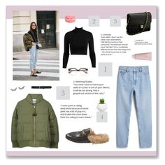 """""""Sin título #90"""" by florii17 ❤ liked on Polyvore featuring Monki, Gucci, Chanel, Chantecaille, Sephora Collection and M&Co"""