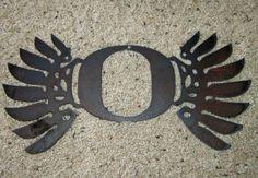 Duck Wings - University of Oregon Ducks Metal art