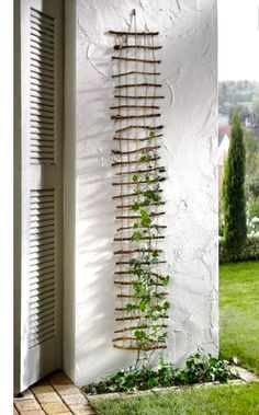 Wonderful DIY trellises for climbing plants Wunderbare DIY-Gitter zum Klettern von Pflanzen Image by Ingrid Hansen While typically found in. Garden Crafts, Garden Projects, Garden Art, Home And Garden, Garden Kids, Herb Garden, Easy Garden, Outdoor Projects, Garden Paths