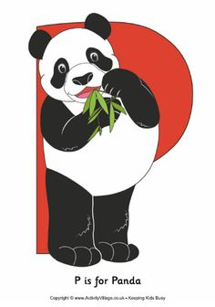 P is for panda idea---big part = belly