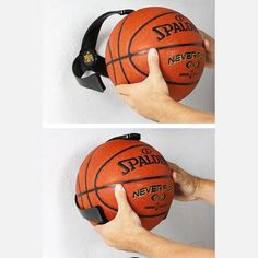 What a GREAT idea! Keep those silly things from rolling all over the place in your garage!!! Basketball Ball Claw now featured on Fab.