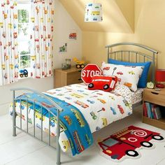 Buy George Home Transport Duvet Set - Single from our Bedroom range today from ASDA Direct. Diy Toddler Bed, Boy Toddler Bedroom, Big Boy Bedrooms, Toddler Rooms, Boy Room, Kids Bedroom, Toddler Quilt, Kids Curtains, Cool Curtains