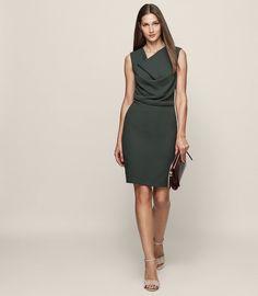 40922d6766 REISS - MARIE COWL-NECK SHIFT DRESS Trendy Outfits