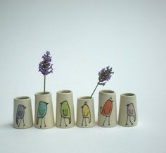 bird vases...like it for the simple line drawings...always looking for new inspiration