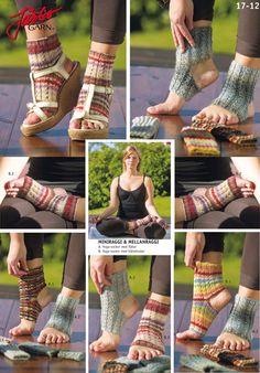 Knit them in Mellanraggi, Junior Raggi or Miniraggi. Crochet Socks Pattern, Knit Patterns, Crochet Cross, Knit Crochet, Yoga Socks, Leg Warmers, Fingerless Gloves, Hosiery, Cross Stitch