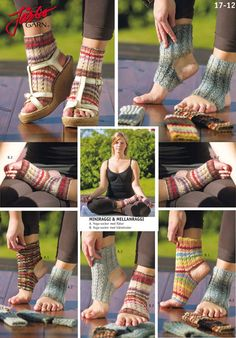 Wonderful knitted Yoga socks.