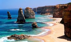 The Twelve Apostles in Australia. Looks beautiful! I really want to go everywhere in Australia though. I also want to see if I can find any abodigitals modeling. Places Around The World, Oh The Places You'll Go, Places To Travel, Places To Visit, Around The Worlds, Travel Destinations, Beautiful Landscape Photography, World Geography, Foto Art