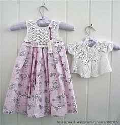 Crochet baby dress: pattern