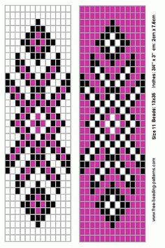 Native American Loom Beading Patterns Free Non Native Beading Patterns, Seed Bead Patterns, Beaded Jewelry Patterns, Weaving Patterns, Indian Patterns, Bead Jewelry, Color Patterns, Peyote Beading Patterns, Art Patterns