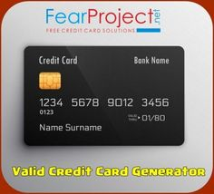 Credit Card Generator With CVV and Expiration Date and Name 2019 - Some people believe that one of the methods in . Read moreCredit Card Generator With CVV and Expiration Date and Name 2019 Credit Card App, Credit Card Hacks, Credit Card Design, Credit Card Offers, Credit Card Readers, Money Generator, Gift Card Generator, Number Generator, Types Of Credit Cards