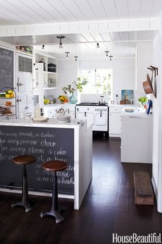 Kitchen of the week on Pinterest from House Beautiful (One of its five most popular pins)