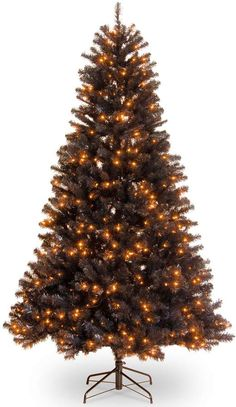 On sale at time of posting. If you're still in orange and black after Halloween, you'll want to take a look at this original tree! National Tree Company National Tree Co. North Valley Black Spruce Artificial Christmas Tree with Orange Lights. Spruce Christmas Tree, Black Christmas Trees, Spruce Tree, Beautiful Christmas Trees, Holiday Tree, Christmas Decor, Orange Home Decor, Orange House, Black Tree