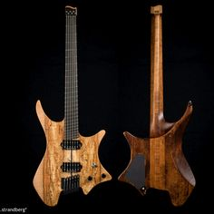 .strandberg* #81 for Todd Kreger, which is a 6-string body configuration with an aspen body, spalted maple top, rock maple neck, ebony fretboard, Seymour Duncan JB pickups and an oil/wax finish.