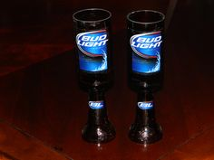 Unique Wine Glass Hillbilly Made from Beer Glasses, Redneck, Great Gift. $10.00, via Etsy.