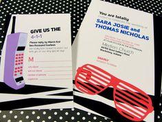 80's Music Theme - DIY Printable Wedding Invitation Set: Invitation & RSVP. $40.00, via Etsy.