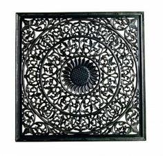 cheaper 1a1fb 0f9ff Väggdekoration tempeltavla i svart patinerat trä. Jättesnygg som sänggavel,  tavla eller som stuckatur