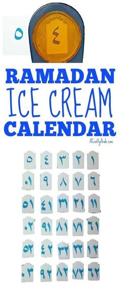 A Crafty Arab: Ramadan Ice Cream Calendar {Tutorial}. We love to create advent Ramadan calendars to remind us to do good deeds everyday. Plus they help the kids count down the 30 days till Eid.