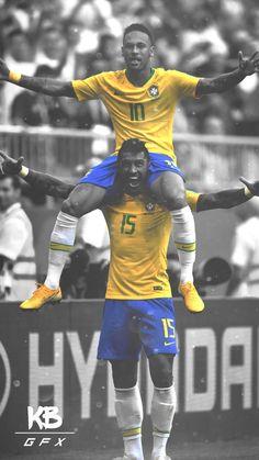 Neymar & Paulinho best of FIFA world Cup Brazil Football Team, Football Icon, Football Is Life, Messi And Ronaldo, Cristiano Ronaldo, Neymar Jr 2014, Neymar Pic, Barcelona Football, Premier League