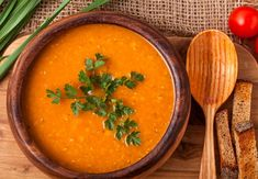 Lentils are a rich source of nutrition, and the easiest way to consume them is making them into soup. Check out these 3 easy lentil soup recipes. Vegan Lentil Soup, Lentil Soup Recipes, Diet Soup Recipes, Cooking Recipes, Apple Soup, Carrot Soup, Lentils Benefits, Lemongrass Soup, Cooking Garbanzo Beans