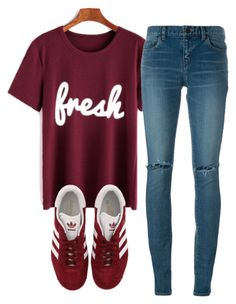 """""""Untitled #617"""" by aaisha123 ❤ liked on Polyvore featuring Yves Saint Laurent and adidas"""