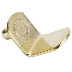 Shelf Support, Bracket-Style, Brass, 5mm (25) by Hafele America. $4.75. Brass plated steel bracket-style shelf support. 5mm diameter shank. 25 per bag.