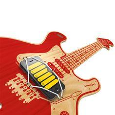 Luftgitarre Woodrocker fürs Smartphone rot