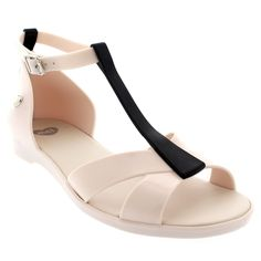 Womens Mel Dreamed By Melissa Dance Vacation Peep Toe Casual Sandals - Black - 7