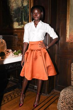 Jeneil Williams stepped out for Forevermark in a full, bright skirt. | Style Set: This Week's Best Dressed | POPSUGAR Fashion