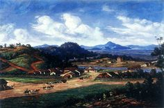 """""""Cubatão em 1826"""". (by Benedito Calixto)."""