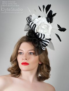 Goth Shopaholic: Goth Shop of the Week: Boring Sidney - Milliner in Seattle Ascot, Kentucky Derby, Black And White Fascinators, Goth Shop, How To Make Fascinators, Coque Feathers, Opening Day, Derby Hats, Spring Summer