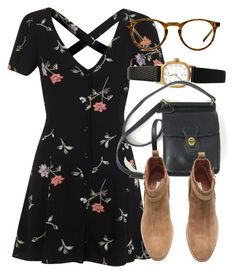 """Untitled #5766"" by laurenmboot ❤ liked on Polyvore featuring Miss Selfridge, American Apparel, H&M and Oliver Peoples"