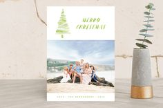 Artistic Tree Holiday Photo Cards by Qing Ji | Minted, holiday cards, holiday photo cards, Christmas cards, photo cards, Christmas photo cards, new year cards, holidays, cards, Christmas, new year, stationery,minted, minted holiday cards, minted cards, watercolor, watercolor cards, hand painted, holiday, Christmas, Christmas tree, watercolor Christmas cards, watercolor Christmas tree, Christmas gifts, watercolour, watercolour cards, watercolour Christmas cards