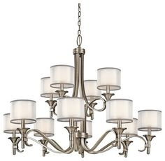 KICHLER 42383AP Lacey Transitional Chandelier transitional-chandeliers