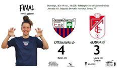 FINAL  Extremadura UD 4-3 Granada CF  Goles de Belén (4) para el Extremadura y Laura (2) y Oviedo para el Granada CF  #soloparavalientes