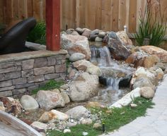"""""""Pond-less"""" waterfall."""