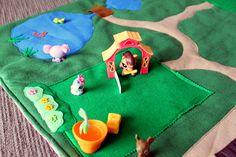 felt play mat | Felt Play Mat: Littlest Pet Shop | Handmade and Home - the blog