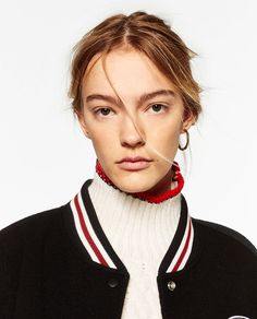 Image 4 of PATCH BOMBER JACKET from Zara