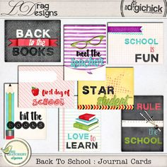 Back To School: Journal Cards by LDrag Designs