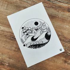 Produit breton - A4 / Livré encadré #madbzh #bretagne #illustration #creative Illustrations, Snoopy, Fictional Characters, Art, Brittany, Black N White, Art Background, Illustration, Kunst