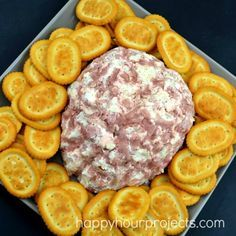 Easy halloween party food ideas trickurtreat shop cbias easy brain shaped ham onion cheeseball for halloween or walking dead zombie parties at happyhourprojects forumfinder Images