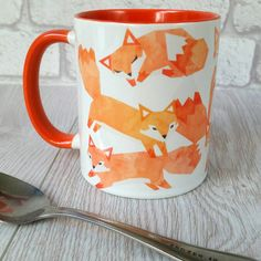 Perfect mug for woodland lovers! These water colour foxes are truly stunning. Why not have your name added to your mug. Simply select the name opinion and leave your chosen name in the note section at checkout. Choose the mugs thats right for you. This design is available on the following mugs: 11oz white ceramic mug orange inside/handle. 11oz white ceramic mug orange rim and handle. 11oz white ceramic mug (dishwasher safe). 15oz white ceramic mug (dishwasher safe). If youd like one of my ot