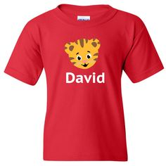 DANIEL TIGER PBS Kids Vinyl with Custom Name Logo Number