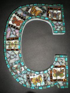 Custom Mosaic Monogram You choose the color by MariposaMosaics, $45.00
