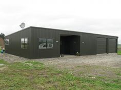 Browse our image gallery of quality steel sheds, garages, farm buildings, commercial buildings and more! Dream Home Design, House Design, Black Shed, Steel Sheds, Garage Exterior, Garage House, Car Garage, Backyard Buildings, Garage Makeover