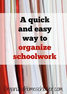 This system for organizing completed schoolwork takes only a few minutes a week…